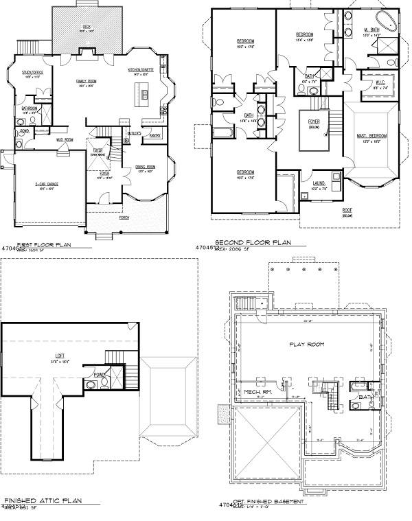 817 Willow Grove floor plans