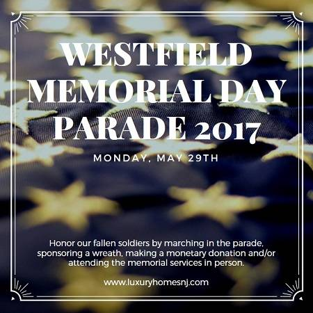 Anyone can be a part of the Westfield Memorial Day Parade 2017 by marching in it, watching it, sponsoring a wreath or making a monetary donation.