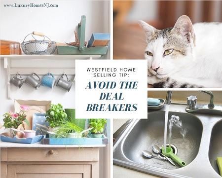 Westfield Home Selling Tip: avoid the deal breakers. Eliminate pests, control your pets, don't be a high maintenance property and avoid shoddy upgrades.