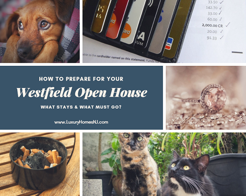 When preparing for your Westfield open house or even a private showing, you need to make sure it is sparkling clean, your pets and their paraphernalia are gone, valuables and other items are stored away and that you get out of the house.
