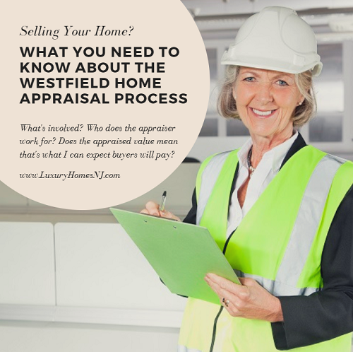 At some point during the sale of your home, you're going to have to have an appraisal performed. A Westfield home appraisal is not the same as a home inspection, the appraiser works for the lender (not the buyer) and just because your home appraises for a certain amount, doesn't mean that's what buyers will pay.