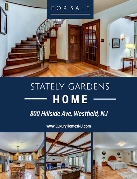 800 Hillside Ave is located in The Gardens section of Westfield, NJ. This stately Tudor provides tons of space for entertaining any size crowd. And your guests will be impressed by the plethora of architectural details throughout.