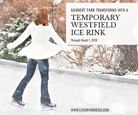 Gumbert Park's basketball courts have been transformed into a temporary Westfield ice rink until March 1, 2019. Public skating will be allowed on weekends.