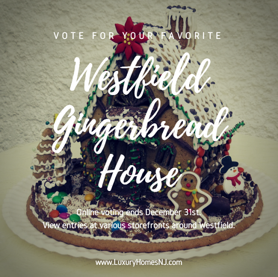 Vote for your favorite entries in the Westfield Gingerbread House at the City's website until December 31st. See them in person in various Westfield storefronts.