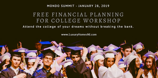 Does your teenager want to attend a top-ranked college? Worried about paying for it? Attend a free financial planning workshop in Summit NJ on Jan 28, 2019 to learn about scholarships, applying for financial aid, which colleges offer the most money and much, much more.