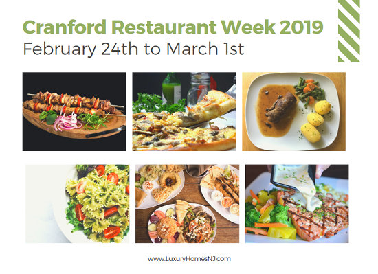 The chefs at 15 local restaurants put together special pre-fixe menus of their brilliant creations for Cranford Winter Restaurant Week 2019 (February 24th through March 1st). Make your reservations today.