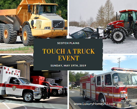 Live out your childhood fantasies at the Scotch Plains Touch a Truck 2019. Explore various emergency vehicles, maintenance vehicles, a snow plow, and other big trucks to see how each of them works up close.