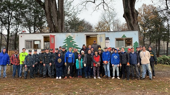 Thank you volunteers for helping unload trees for the Westfield Area Y Men's Club Christmast tree lot 2019.