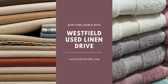 Drop off your used sheets (any size), blankets, towels, shower curtains, and bath mats at any of the participating locations during business hours by March 28th for the Westfield Used Linen Drive benefitting Furniture Assist and local animal shelters.