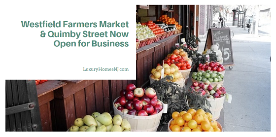 Westfield Farmers Market and Quimby St Open for business downtown this weekend. The farmers market allows in-person shopping as well as curbside pickup. Quimby St closes to automotive traffic all weekend long.