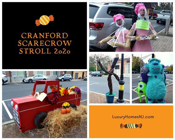 Local businesses, organizations, and individuals created some magnificent works of art for this year's Cranford Scarecrow Stroll. Help choose the winner by casting your vote for your favorites. Then, enjoy a cup of free cider at the Spider Cider stand. Enter the Scarecrow Selfie Contest. And try your hand at Halloween Bingo.