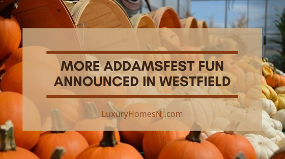 A pumpkin decorating contest and special drawing contest add to the fun you'll find in Westfield for AddamsFest 2020 this month.
