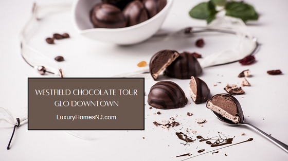 As part of March 2021's Glo Downtown experience, several local shops offer chocolate samples when you take the Westfield Chocolate Tour.