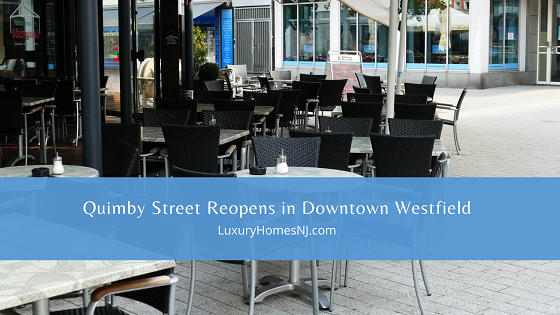 Beginning April 30th, 2021, Quimby Street activities start up again in Downtown Westfield with live music, exercise classes, expanded outdoor dining, and much more.