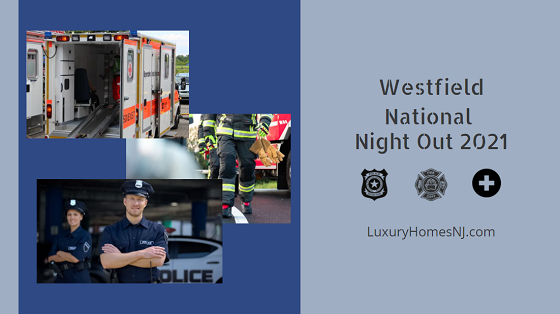 Come meet police, fire, volunteer rescue, and public works personnel at the Westfield National Night Out 2021 on Aug 3rd in the North Side train lot. Enjoy tons of activites, free food, and great music while you're there.